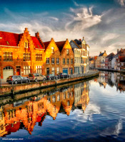 Afternoon Reflections Bruges #1B signed