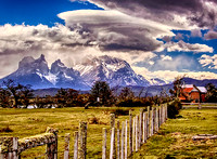 Farm In Foreground Torres del Paine  3