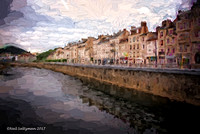 besancon France on the Doubs River  3 signed