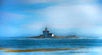 Lighthouse At Southport Maine  5.signed