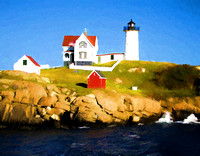 Cape Neddick Light watercolor  2