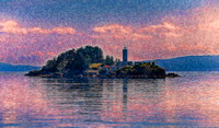 Island With Lighthouse Alaska  2