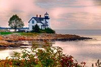 Lighthouse At Jonesborg Maine 1