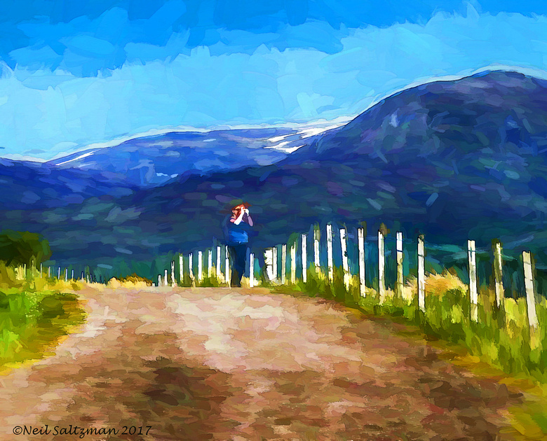 Photographing the  Scottish Highlands  painting 6 signed